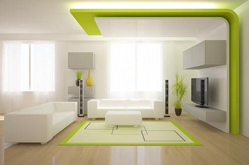 Trần thạch cao phòng khách giật cấp theo khối đẹp