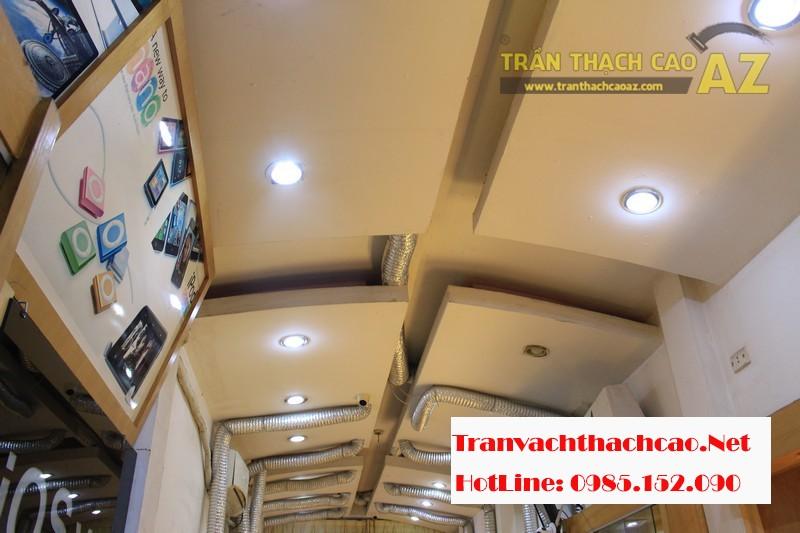 Sửa trần thạch cao cho cửa hàng điện thoại trên phố Đống Đa