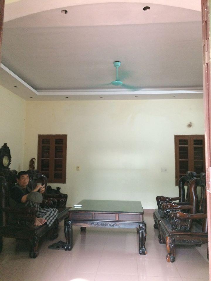 Làm trần thạch cao tại nhà ông bà Hưng thôn Xuân Nộn