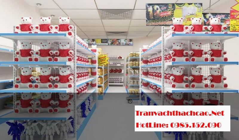 Nhận thi công trần thạch cao cho siêu thị trọn gói, giá rẻ